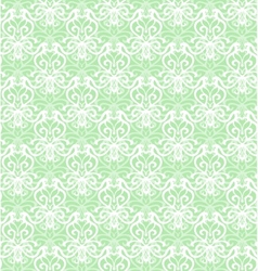 Intricate white luxury seamless pattern on green vector