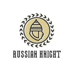 Knight head armor helmet face vector image