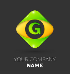 Letter g logo symbol in colorful rhombus vector