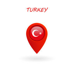 location icon for turkey flag eps file vector image