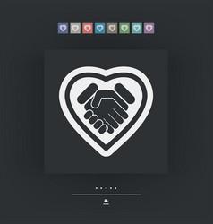 Love handshake vector