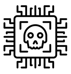 Malicious technologies icon outline style vector
