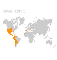 Map of the spanish empire vector
