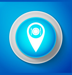 Map pointer with restaurant and cutlery icon vector