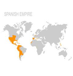 Map spanish empire vector
