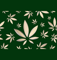 marijuana leaves seamless pattern cannabis vector image