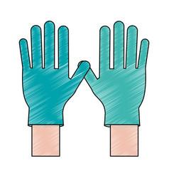 Medical latex gloves vector