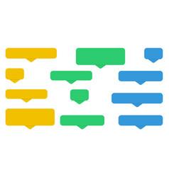 messages bubbles flat design speech bubbles vector image