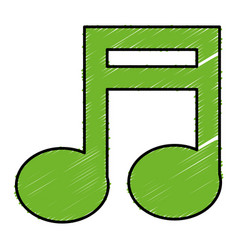 Music note isolated icon vector