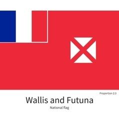 National flag of Wallis and Futuna with correct vector image