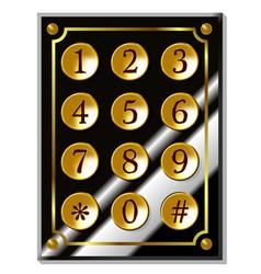 Number code keyboard vector