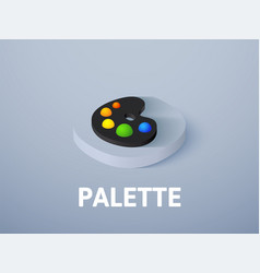 Palette isometric icon isolated on color vector