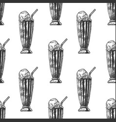pattern with milkshake vector image