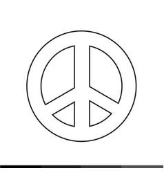 peace symbol icon design vector image