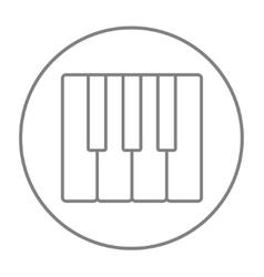 Piano keys line icon vector image