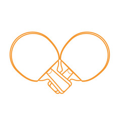 ping pong rackets vector image