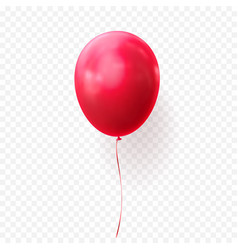 Red balloon transparent background glossy vector