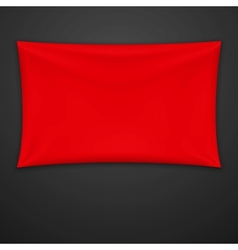 Red Textile Banner vector image