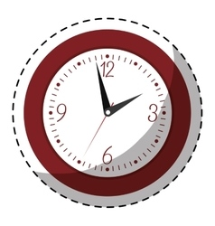 red wall clock icon image vector image