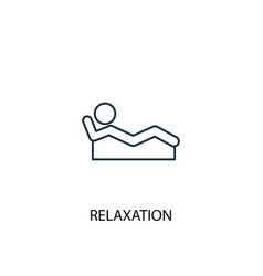 Relaxation concept line icon simple element vector