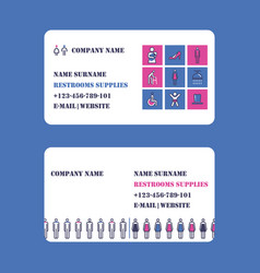 restroom equipment supply and service business vector image