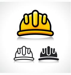 safety construction helmet cartoon icon vector image