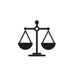 scales of balance icon vector image