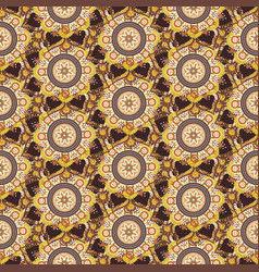 seamless repeating pattern of mandalas vector image