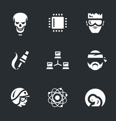 set artificial intelligence icons vector image