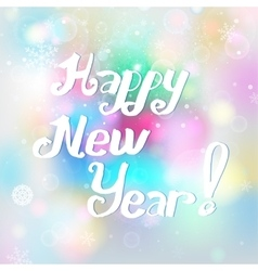 Snowflakes New Year background vector image