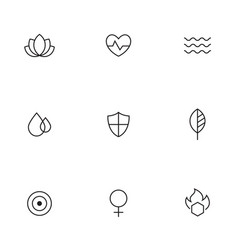 Spa beauty relaxing icons vector