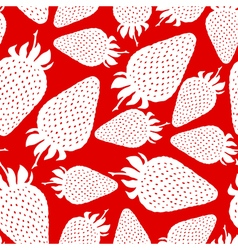 strawberry pattern red vector image