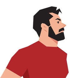 Stylized portrait of a hipster man vector image