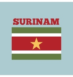 Surinam country flag vector