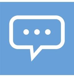 Talk white icon vector image