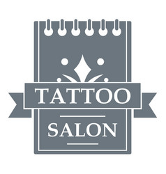 Tattoo salon logo simple gray style vector