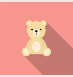 teddy bear soft toy icon vector image