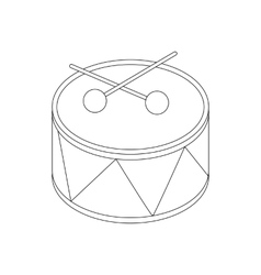 Toy drum icon isometric 3d style vector image