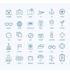 Travel logo icons set Sea travel or vector image