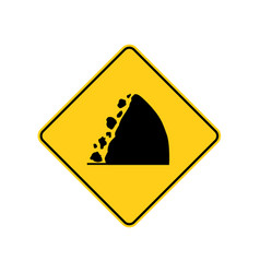 Usa traffic road signswatch for falling rocks vector