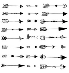 vintage collection arrows vector image