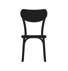 vintage wooden chair silhouette vector image