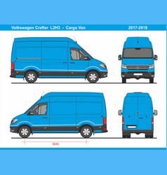 Volkswagen crafter cargo van l2h3 2017-2018 vector