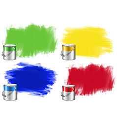 Watercolor in bucket and wall vector image