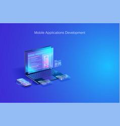 web development software coding program vector image