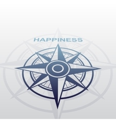 Wind rose with happiness vector image
