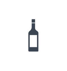 wine related glyph icon vector image