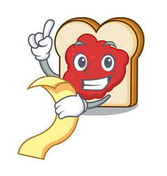 with menu bread with jam mascot cartoon vector image