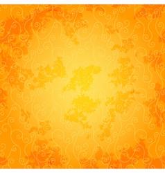 Bright orange seamless spotty pattern vector image vector image