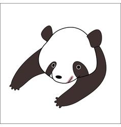 Cartoon panda bear vector image vector image